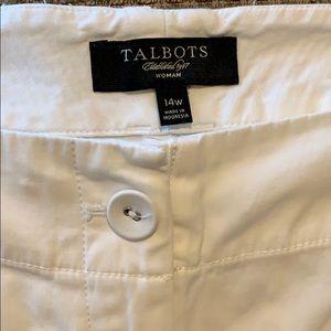 Talbots Shorts - White shorts of cotton/spandex fabric